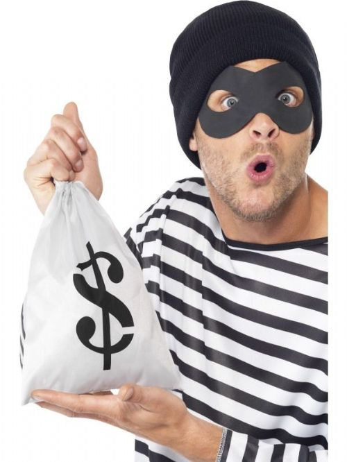 Bank Robber Instant Kit, With Mask, Hat, Swagbag